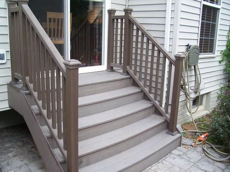 Image of: Composite Deck Stairs Colors