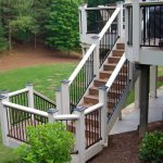 Composite Deck Stairs and Railing