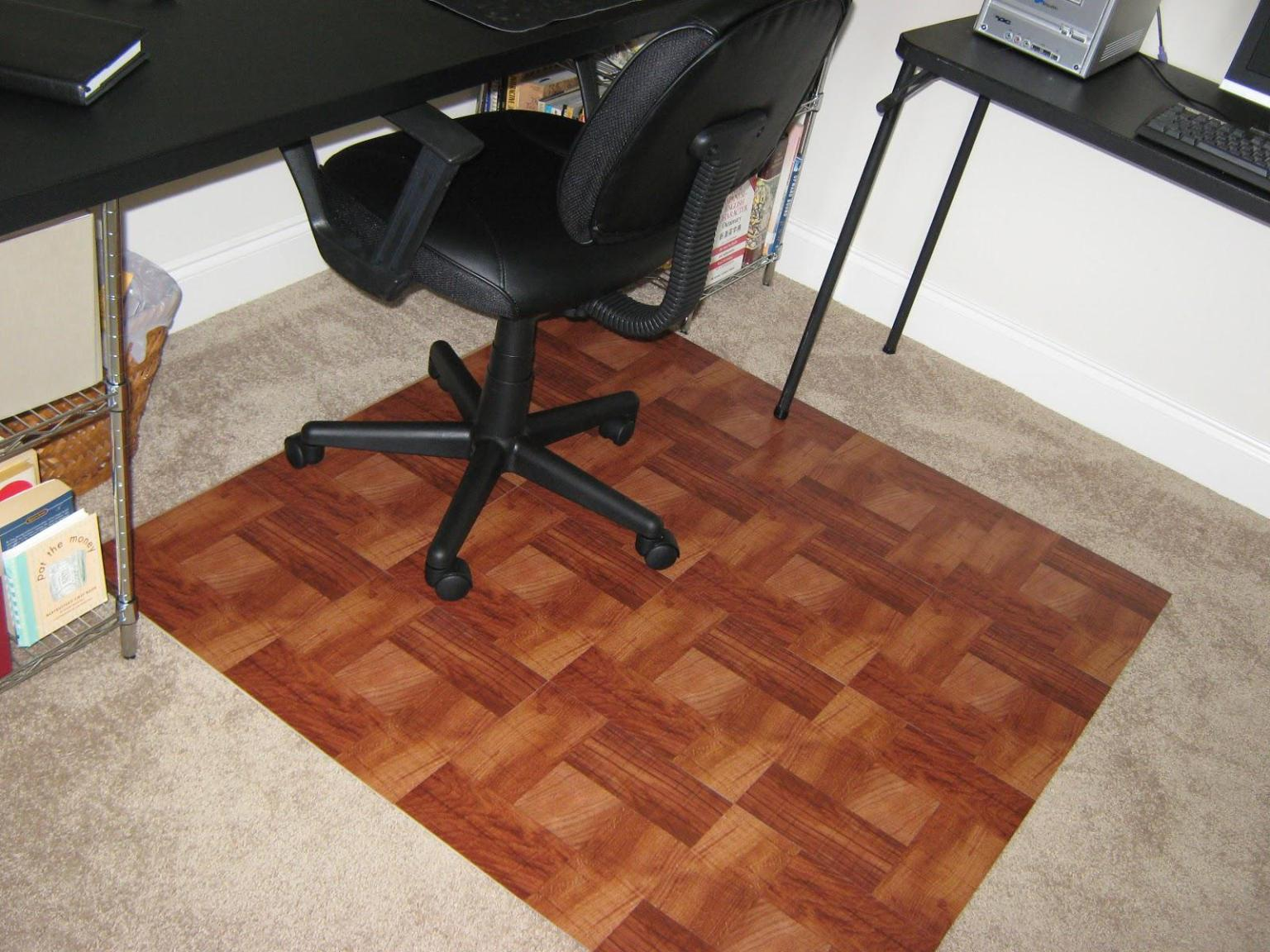 Image of: Computer Chair Mat For Carpet