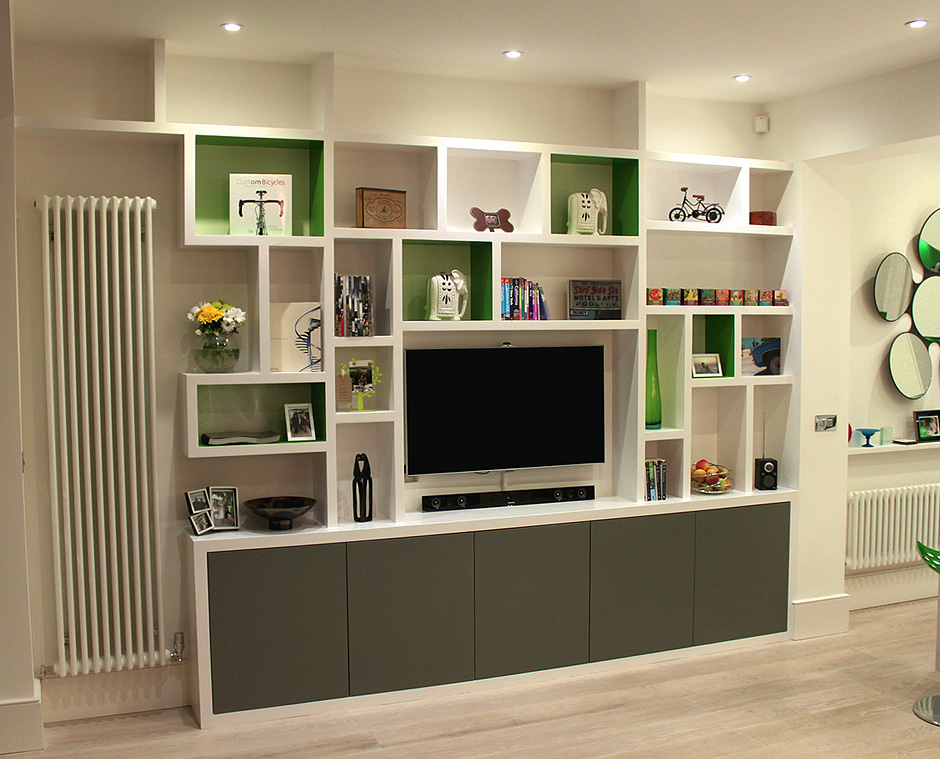 Image of: Contemporary Bookcaseis   green
