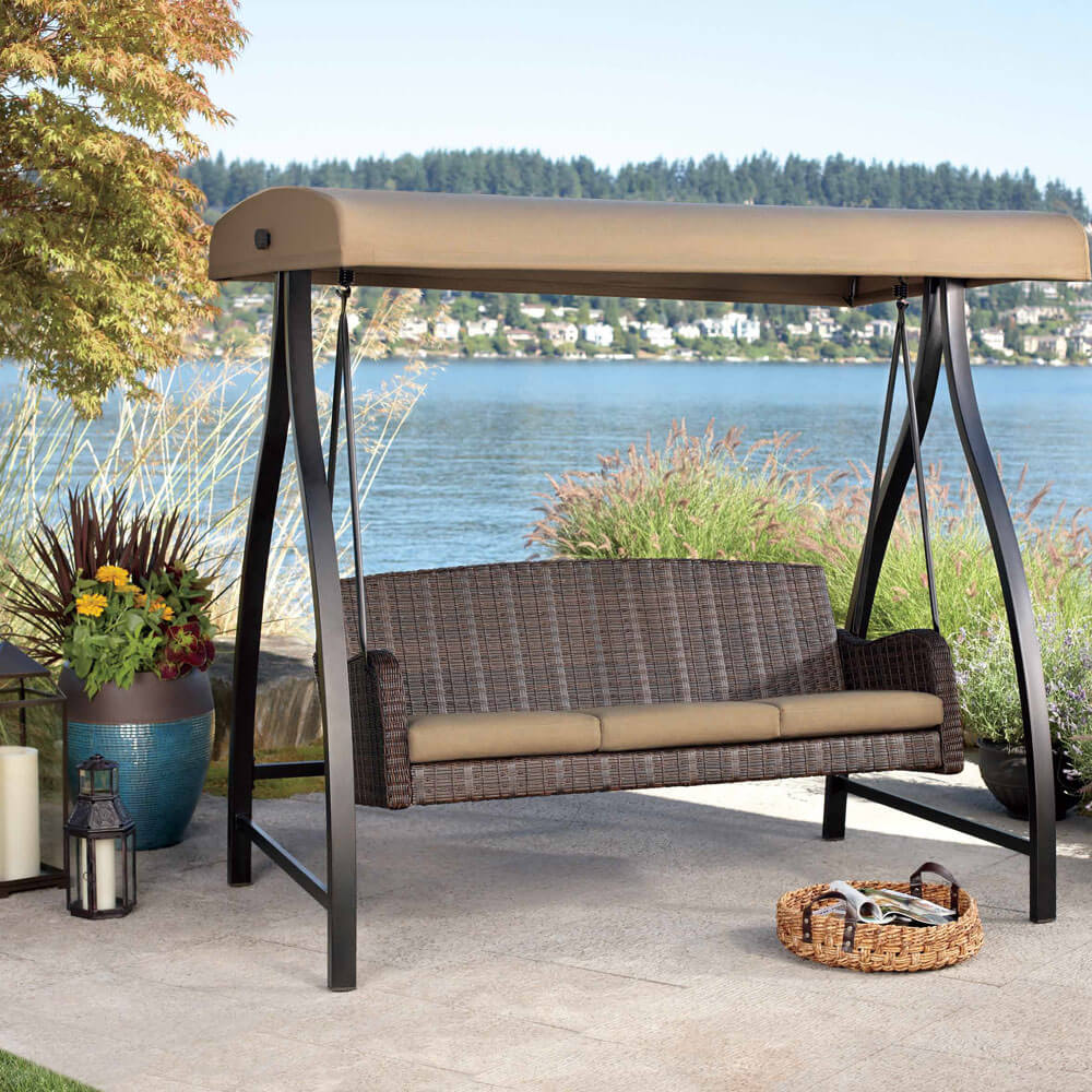Image of: Contemporary Deck Swings with Canopy