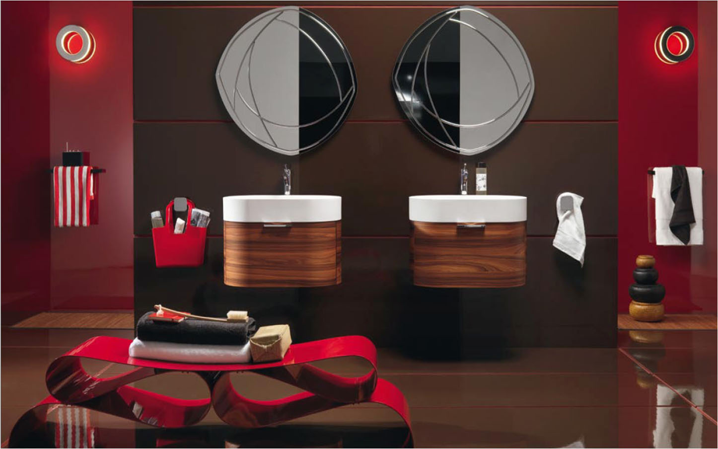 Image of: Contemporary Decorative Bathroom Mirrors