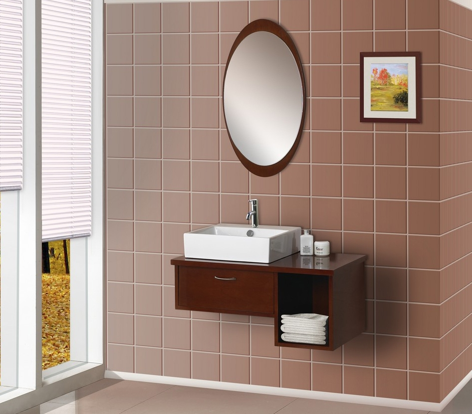 Image of: Contemporary Oval Bathroom Mirrors