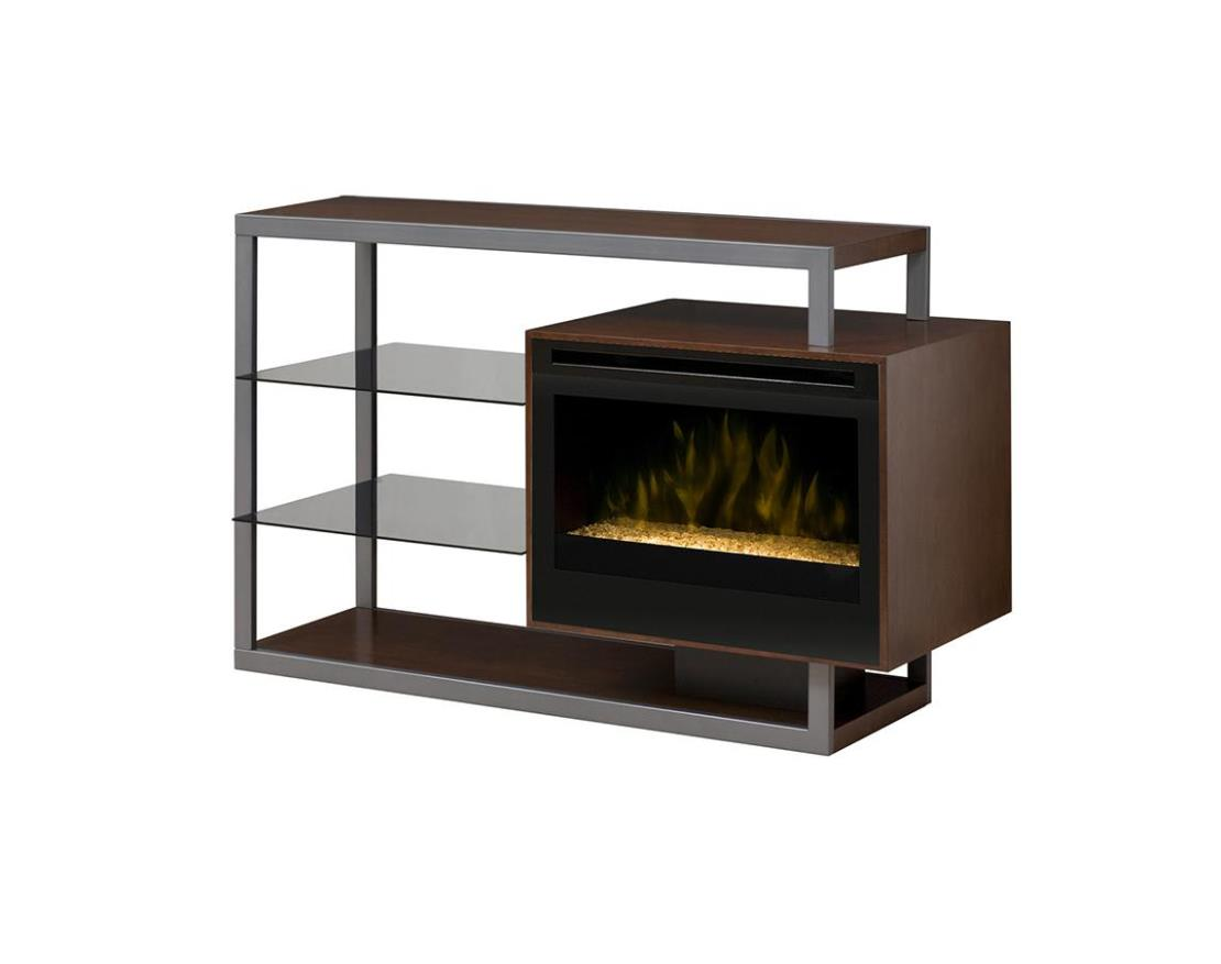 Image of: Convertible Media Console Electric Fireplace