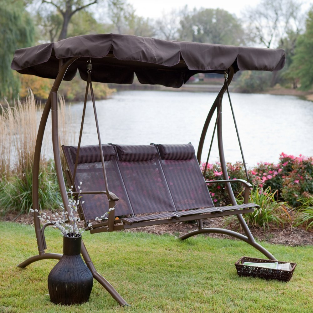 Image of: Cool Deck Swings with Canopy