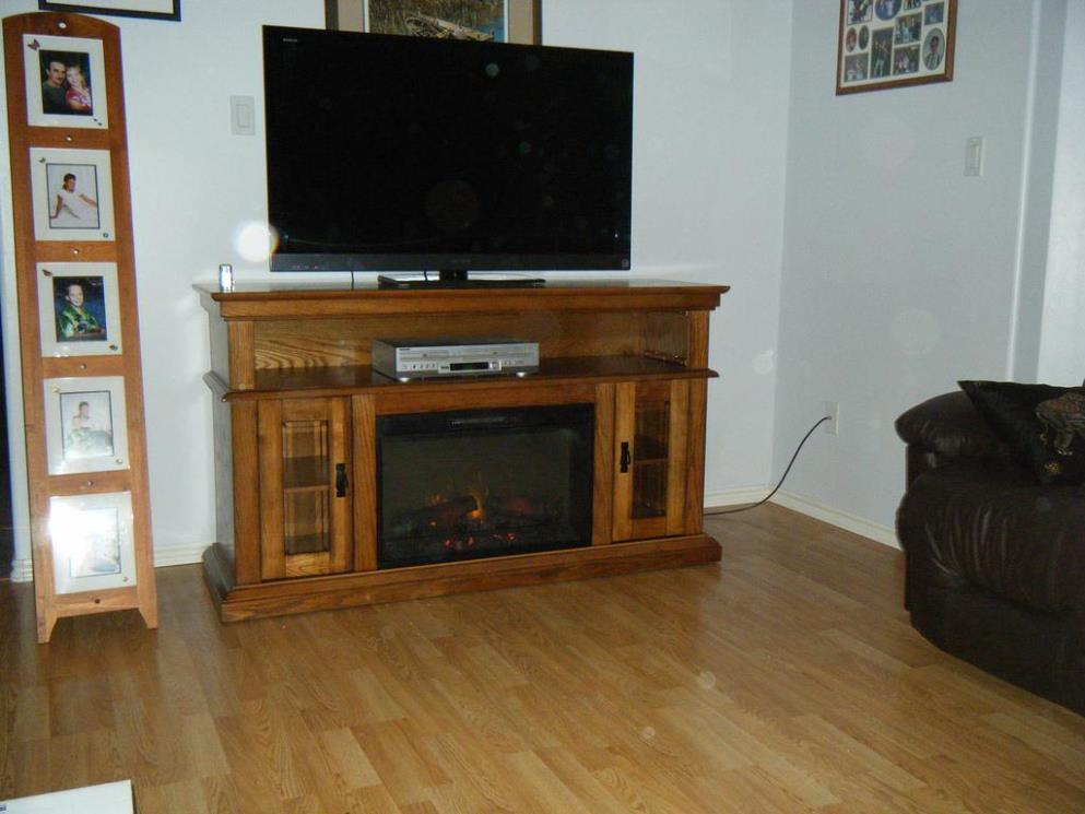 Image of: Corner Electric Fireplace Media Console