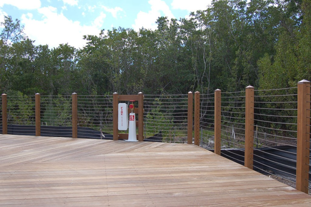 Image of: Created Wire Mesh Deck Railing