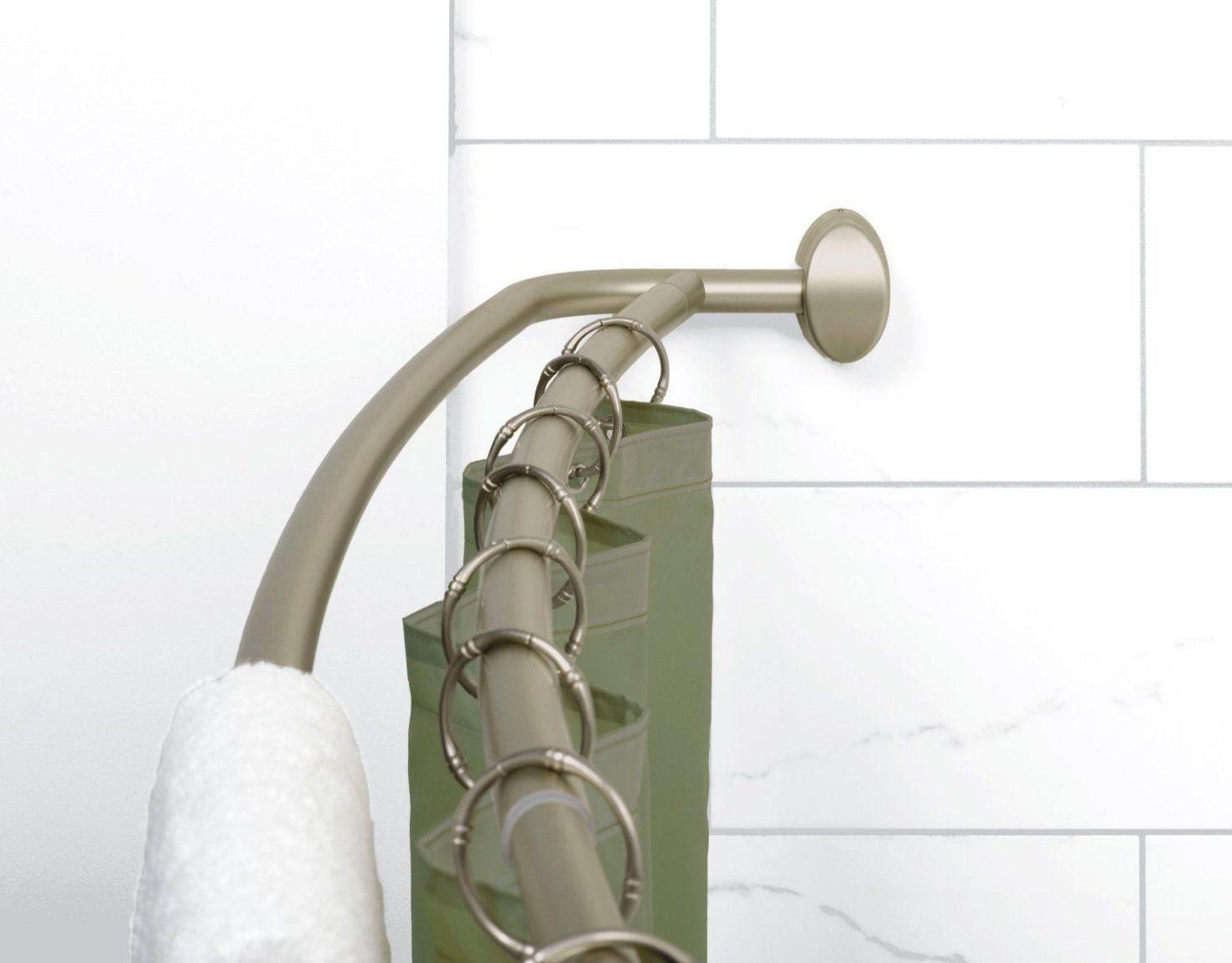 Image of: Curved Double Shower Curtain Rod