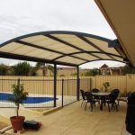 Curved Metal Patio Awning