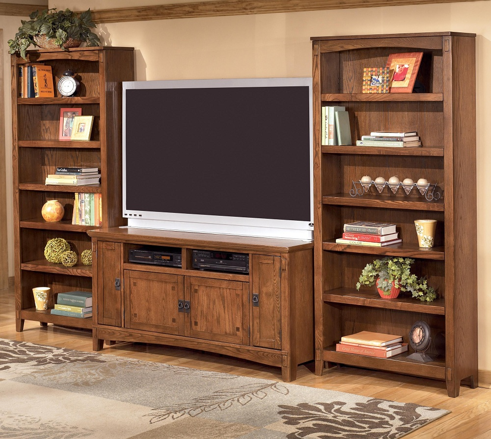 Image of: Custom Bookcase Tv Stand