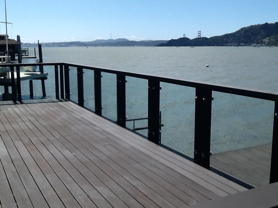 Image of: Custom Glass Deck Railing