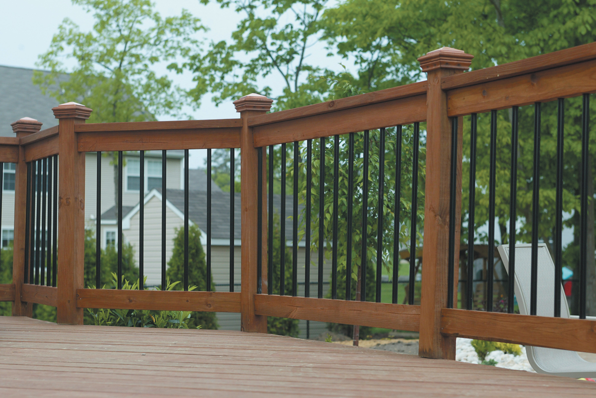 Image of: Cute Composite Deck Railings