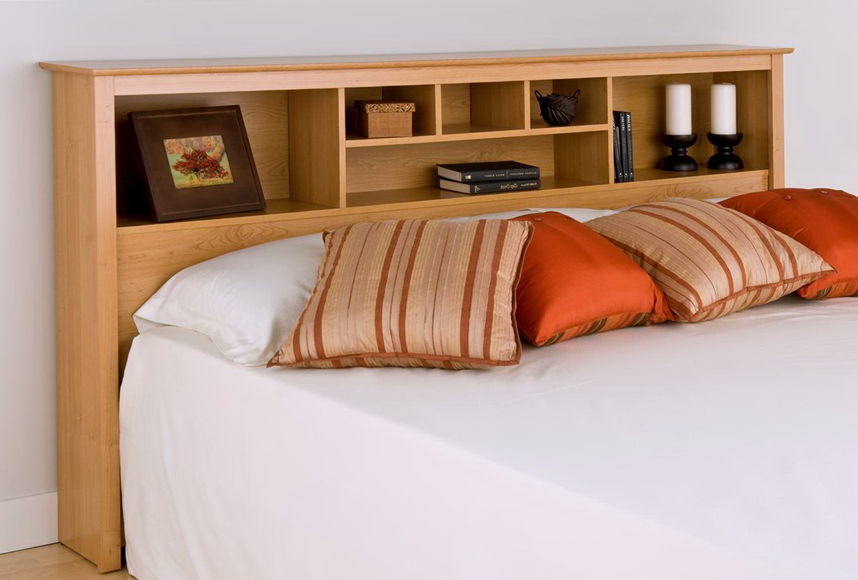 Image of: Cut King Size Bookcase Headboard