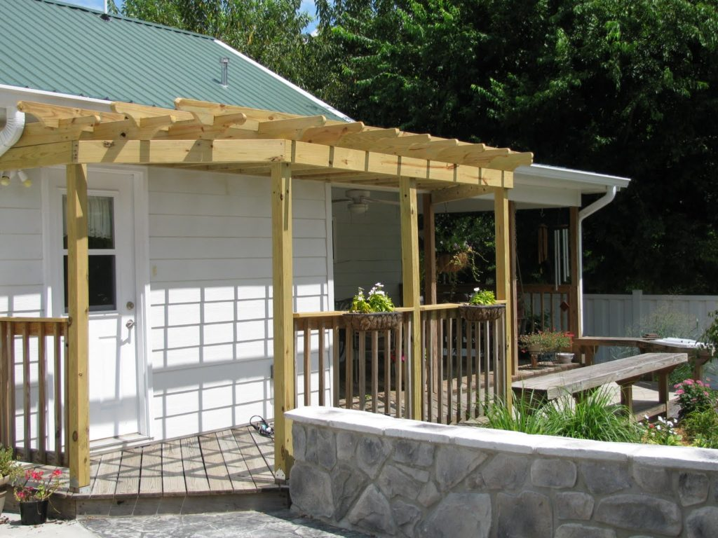 Image of: DIY Front Door Pergola