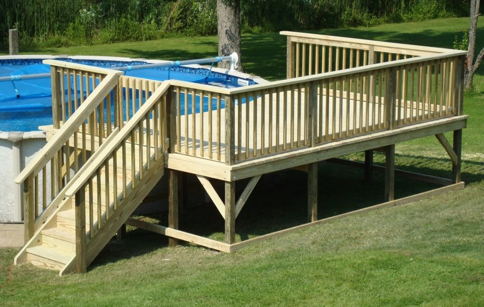 Image of: DIY Oval above Ground Pools