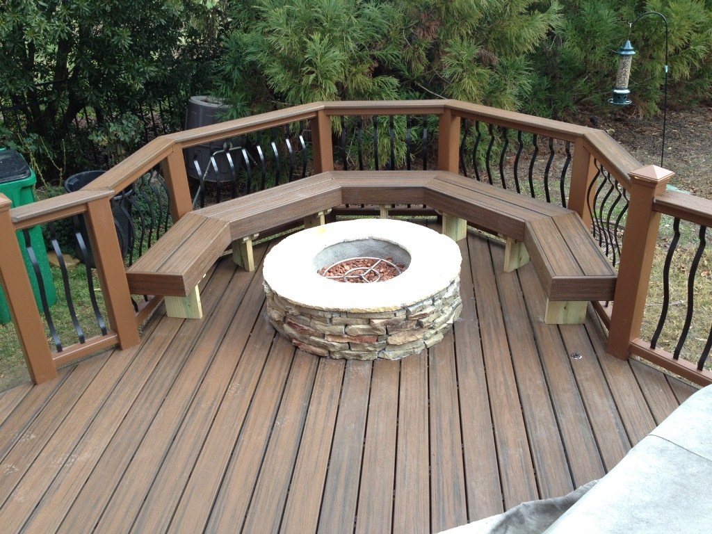Image of: DIY Propane Deck Fire Pit
