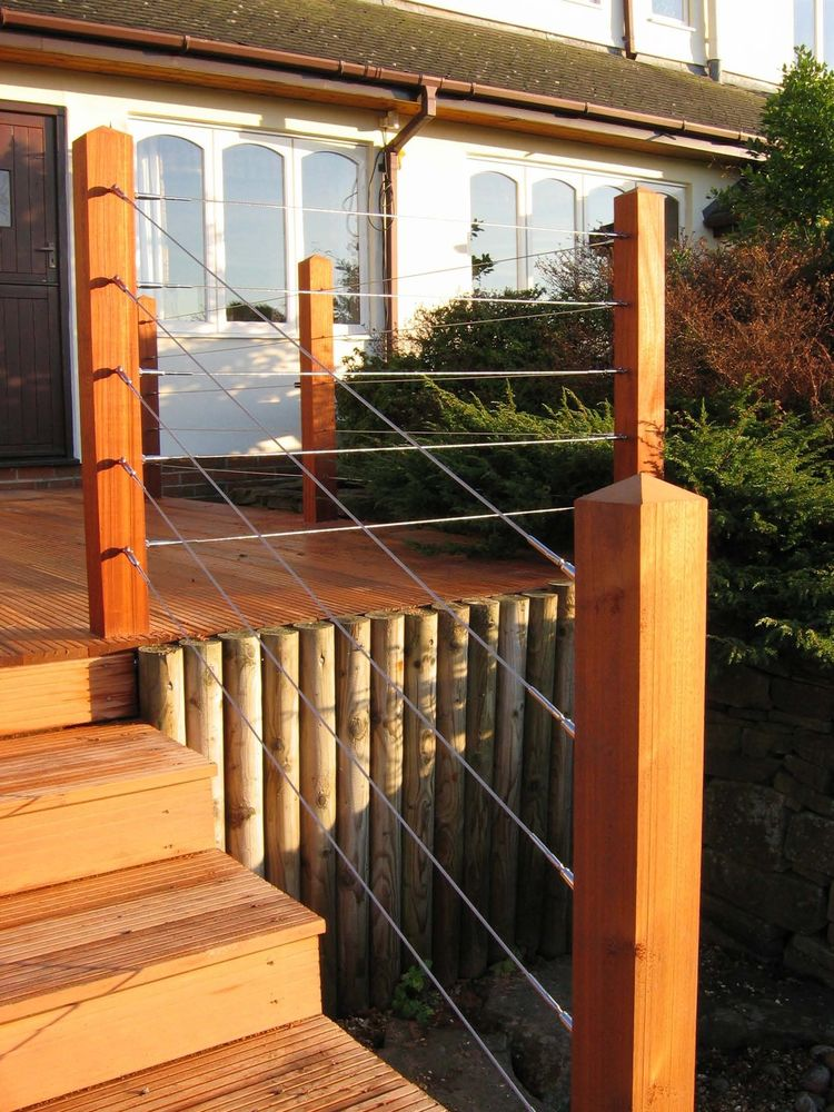 Image of: DIY Stainless Steel Deck Railing