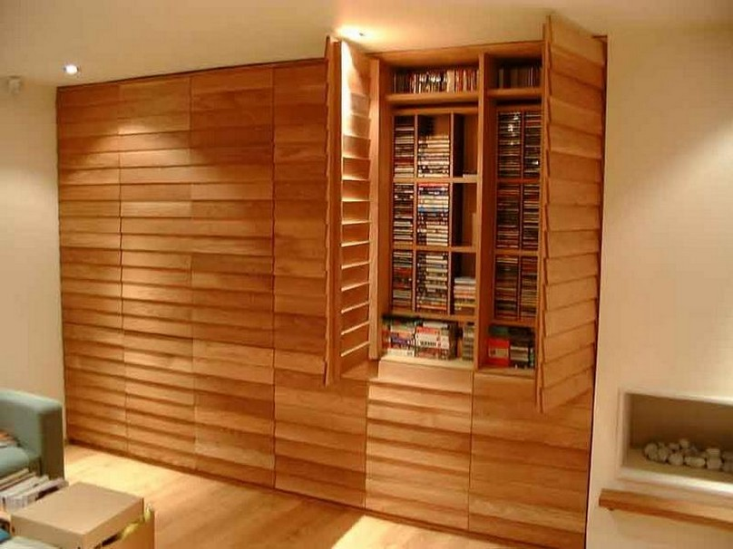 Image of: DVD Bookcase Door