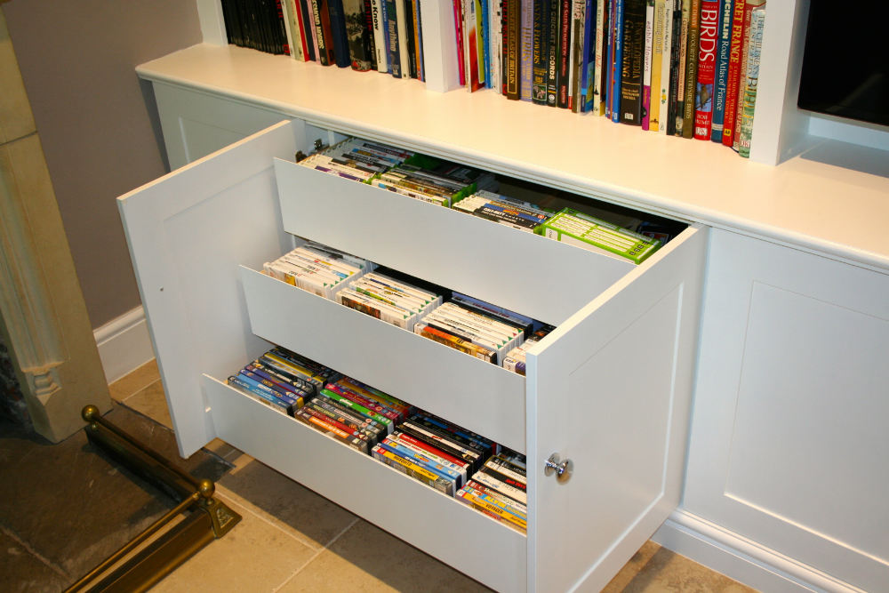 Image of: DVD Bookcase Drawers