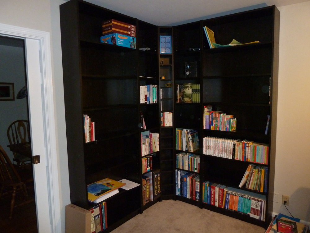 Image of: DVD Bookcase L Shaped