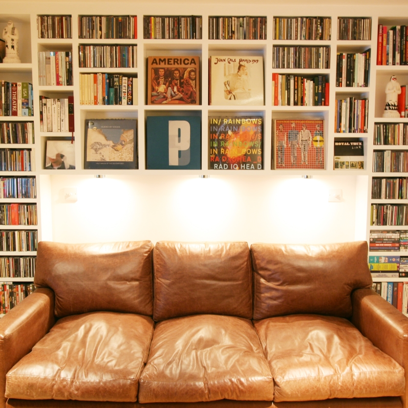 Image of: DVD Bookcase Wall