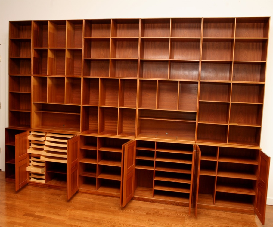 Image of: Danish modern low bookcase