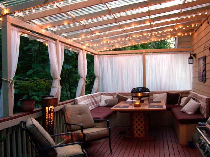 Image of: Deck Covers for Shade Lighting