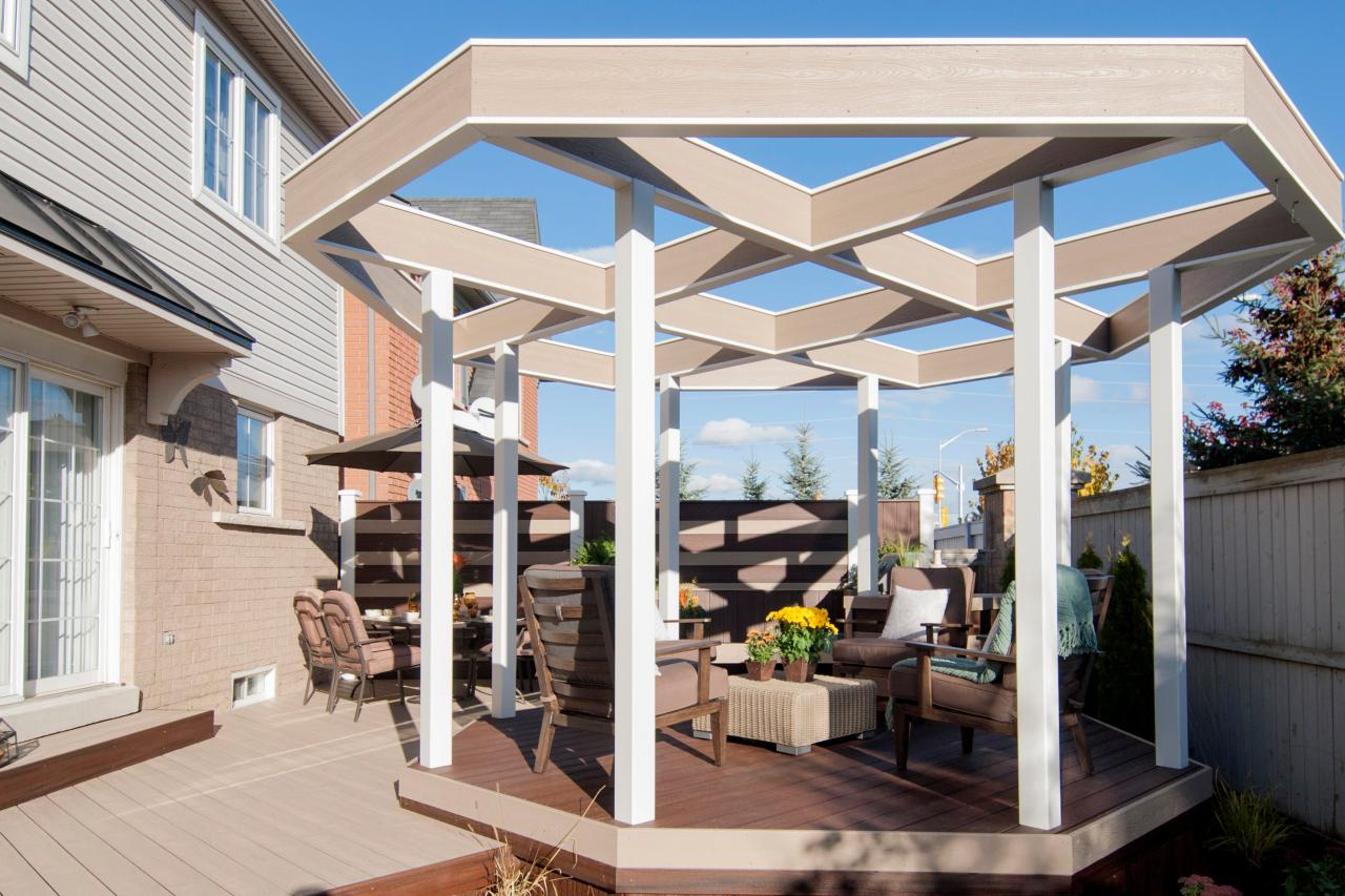 Image of: Deck Covers for Shade Shapes