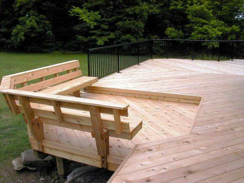 Image of: Deck Seating Ideas Benches