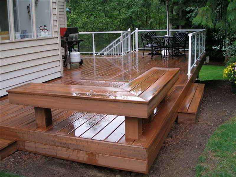 Image of: Deck Seating Ideas Built
