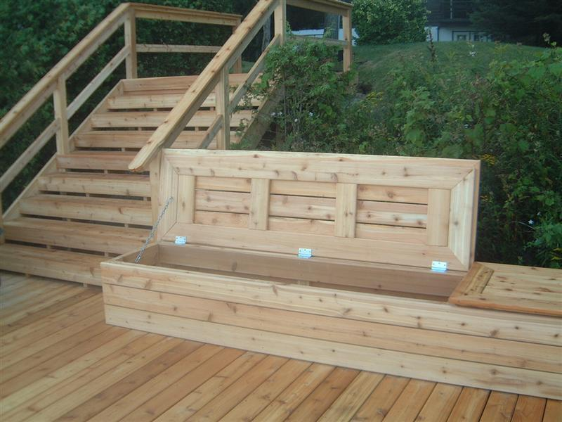 Image of: Deck Seating Ideas Design