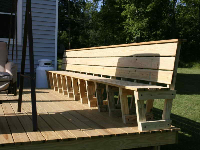 Image of: Deck Seating Ideas Nature