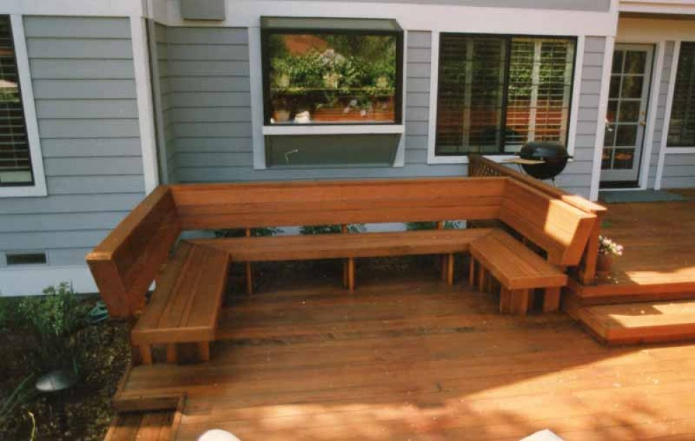 Image of: Deck Seating Ideas Plans