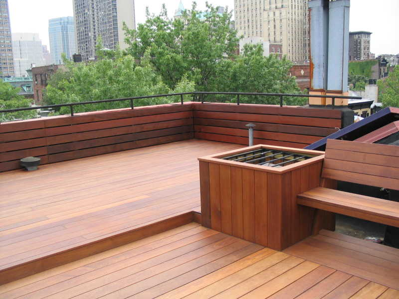 Image of: Deck Seating Ideas Roof