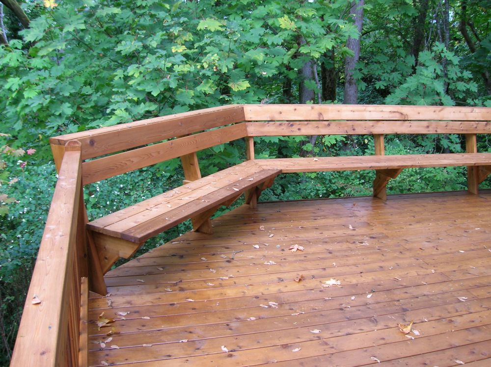 Image of: Deck Seating Ideas Simple