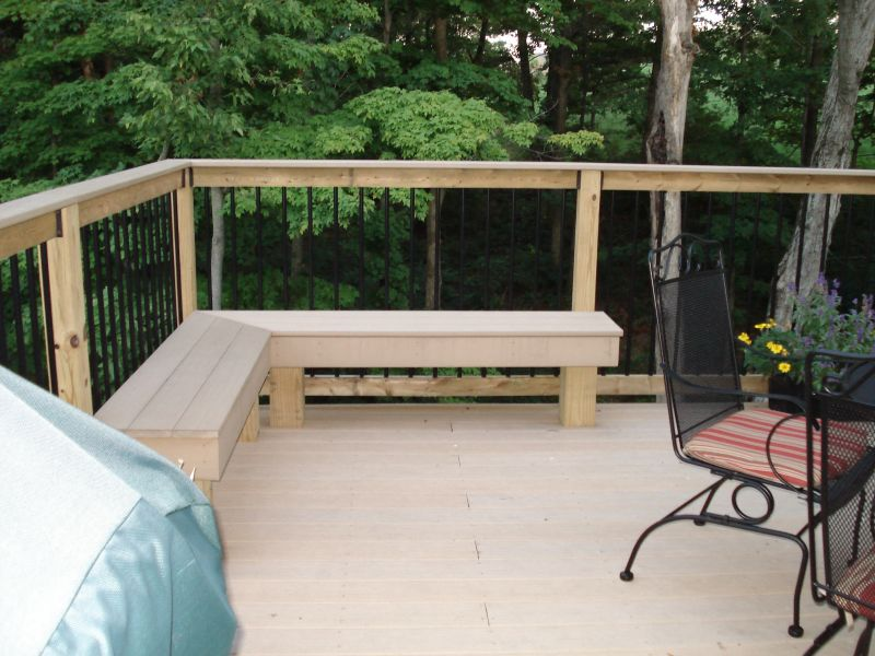 Image of: Deck Seating Ideas White