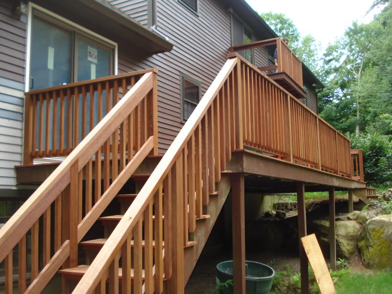 Image of: Deck Stair Railing Decor