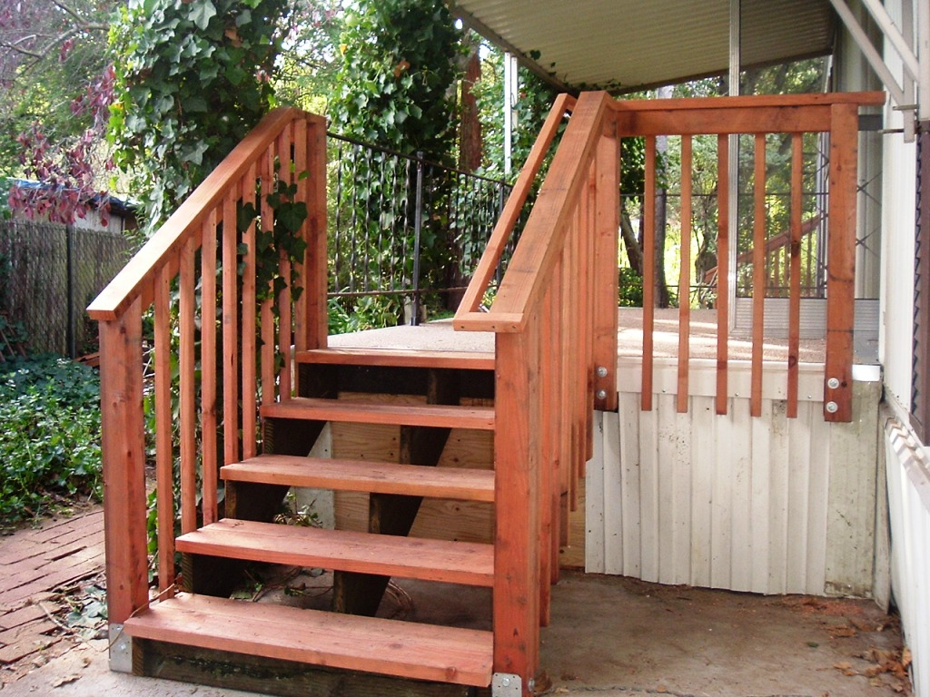 Image of: Deck Stair Railing Design