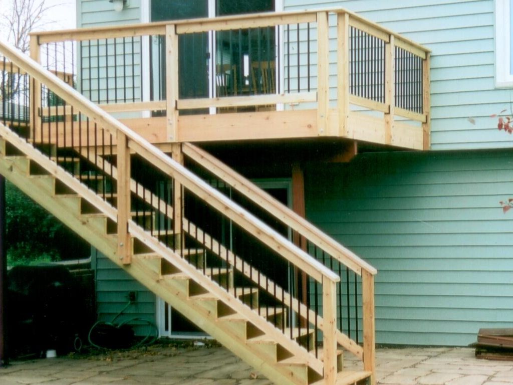 Image of: Deck Stair Railing Ideas