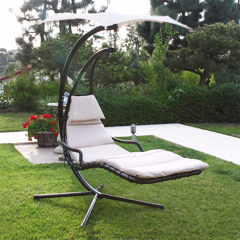 Image of: Deck Swings with Canopy Design Ideas