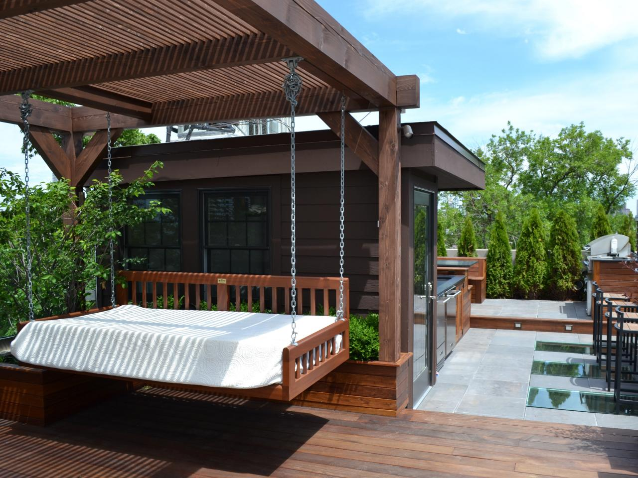 Image of: Deck Swings with Canopy Style