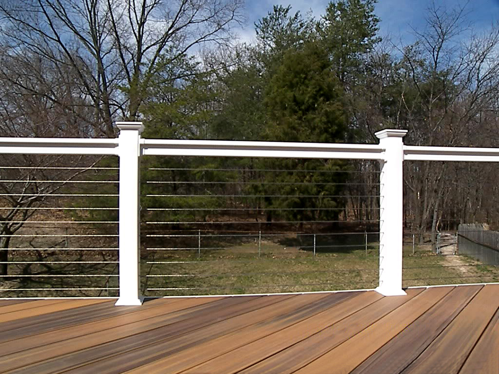 Image of: Decking Cable Deck Railing Systems