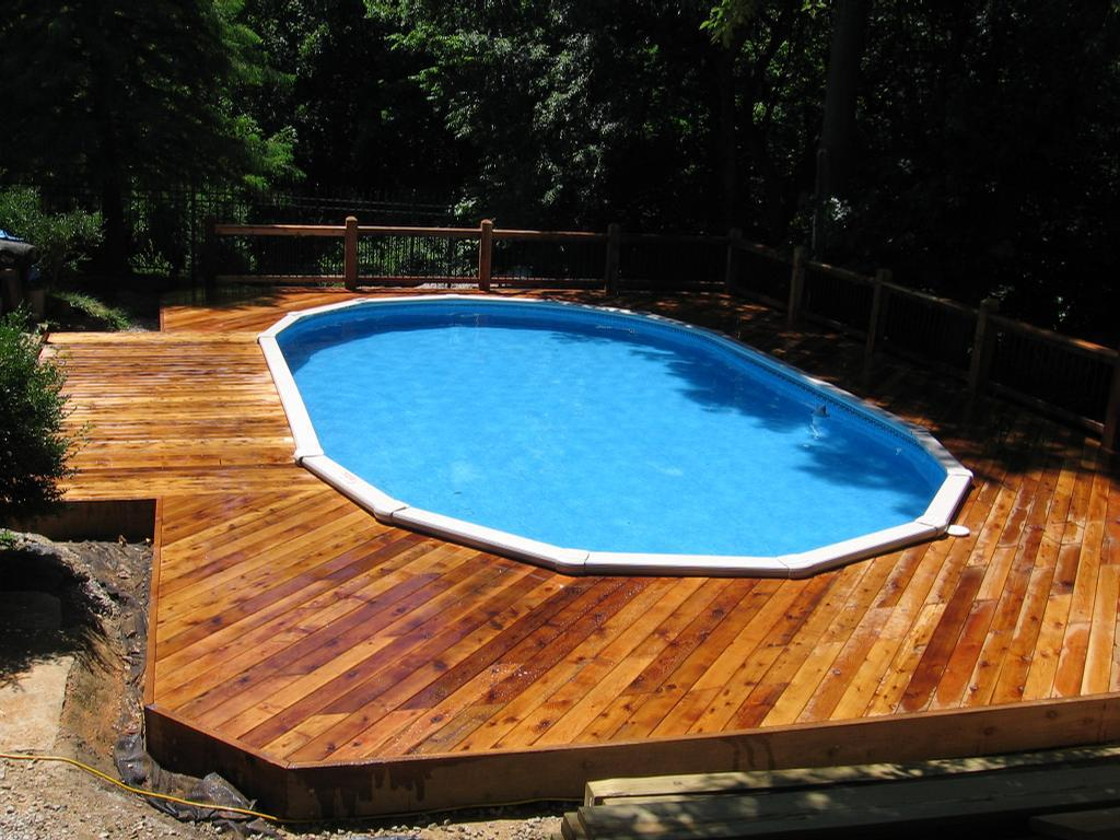 Image of: Decks Around Pools Shapes