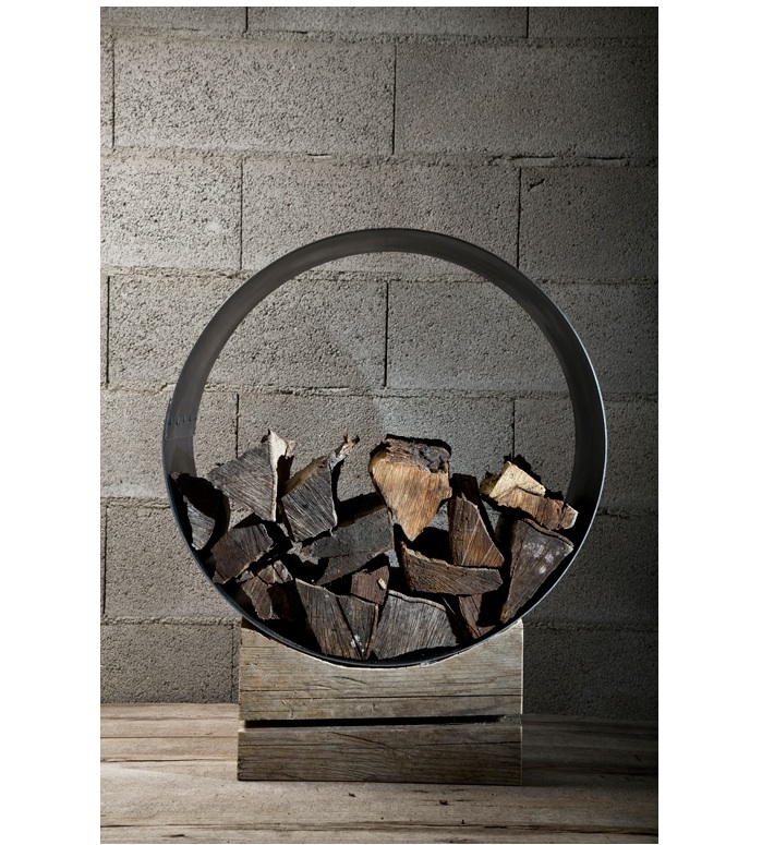 Image of: Decorative Firewood Holder