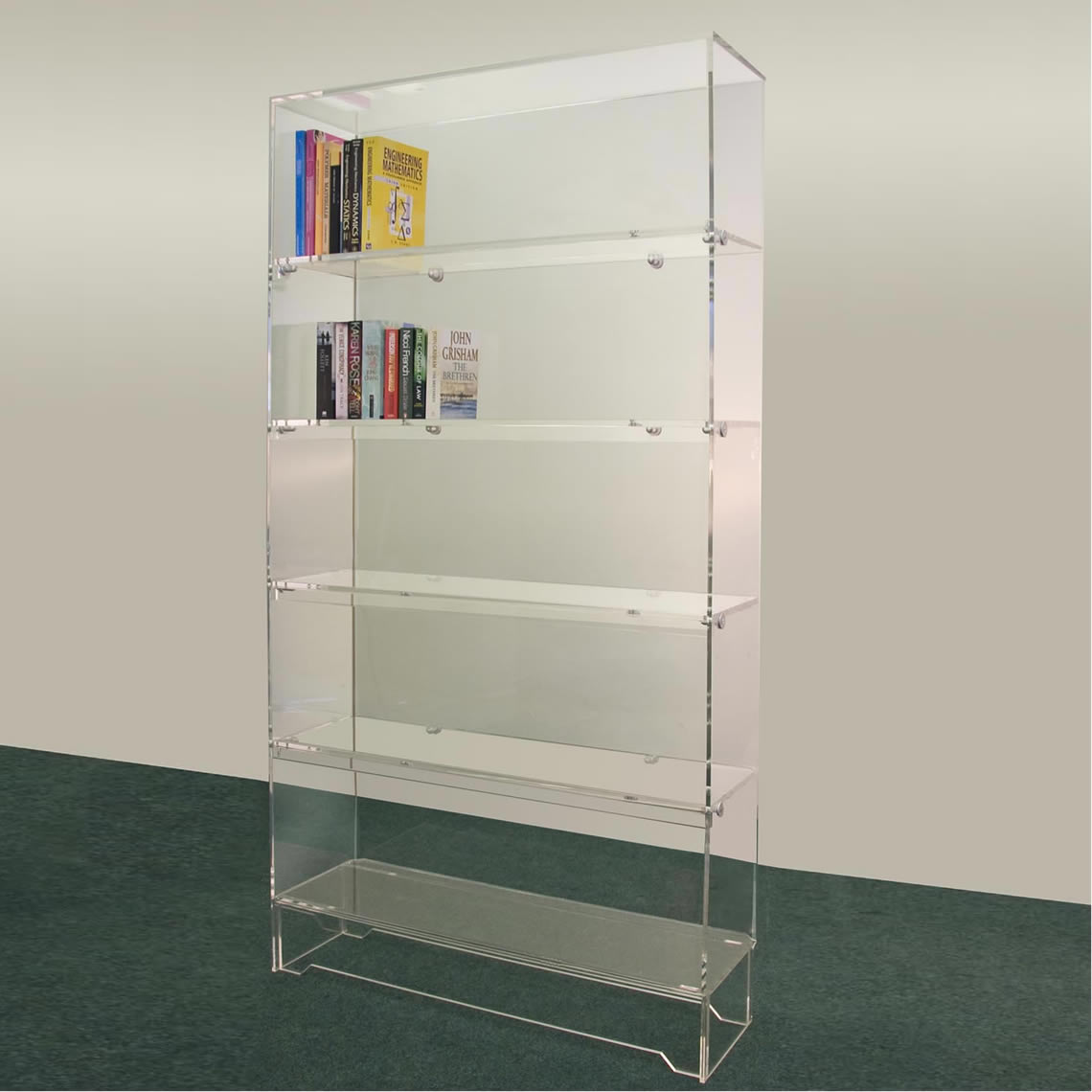 Image of: Design Concept Acrylic Bookcase