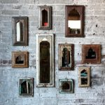 Distressed Arrow Reclaimed Wood Wall Mirror