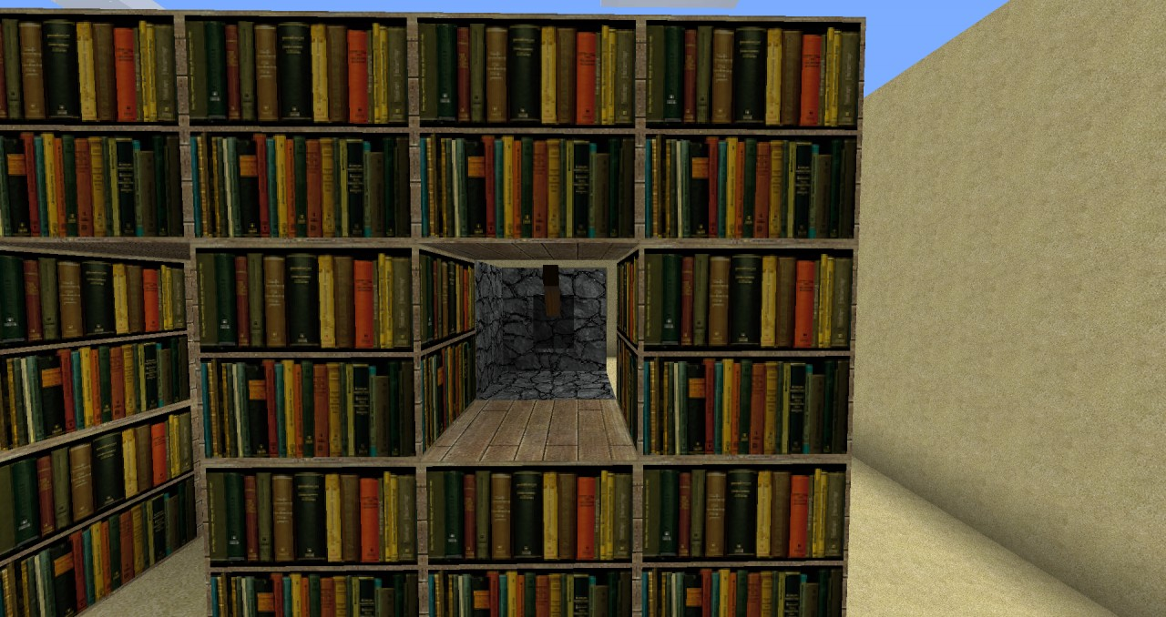 Image of: Diy Bookcase Minecraft