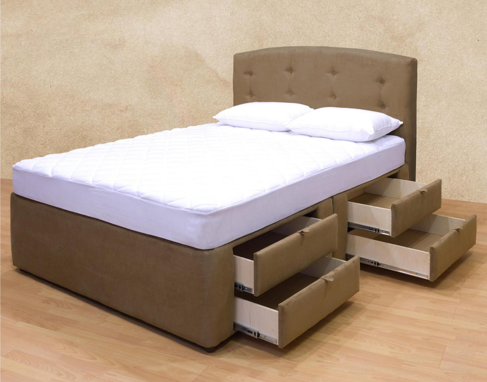 Image of: Diy Queen Bed Frame With Drawers