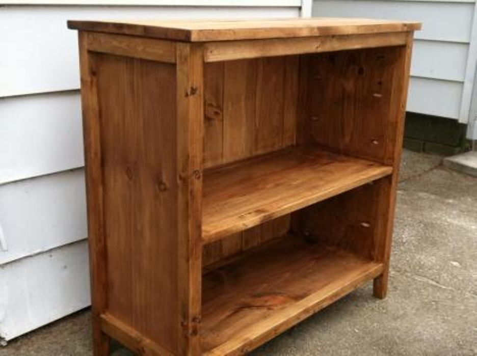 Image of: Diy built in bookcase