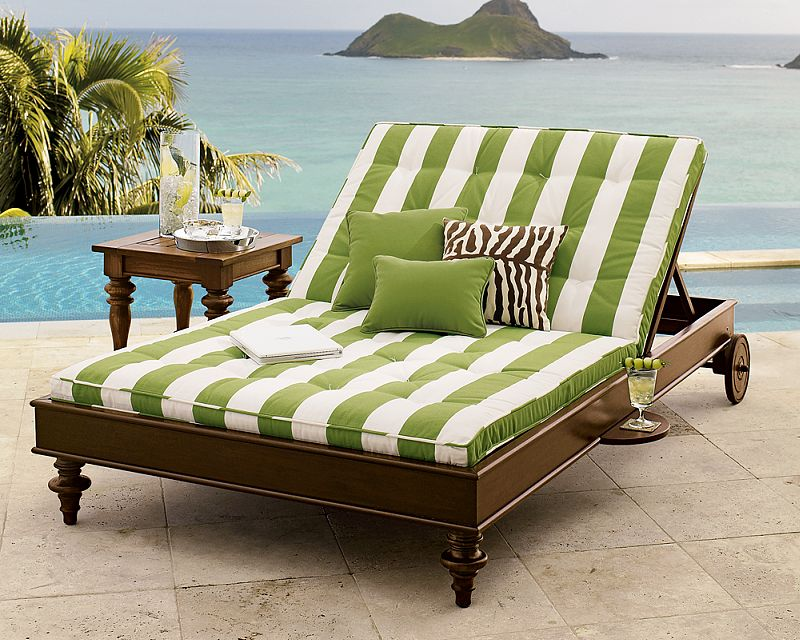 Image of: Double Outdoor Chaise Lounge